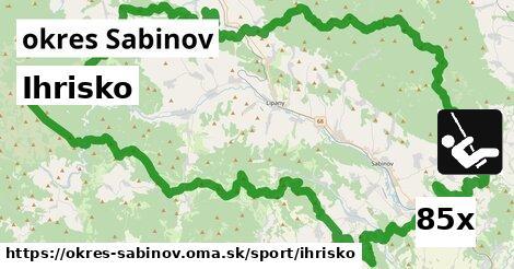 ilustračný obrázok k Ihrisko, okres Sabinov