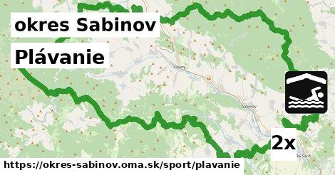 ilustračný obrázok k Plávanie, okres Sabinov