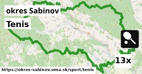 ilustračný obrázok k Tenis, okres Sabinov