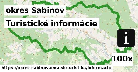 ilustračný obrázok k Turistické informácie, okres Sabinov