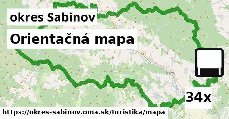 ilustračný obrázok k Orientačná mapa, okres Sabinov