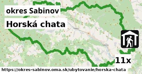 ilustračný obrázok k Horská chata, okres Sabinov