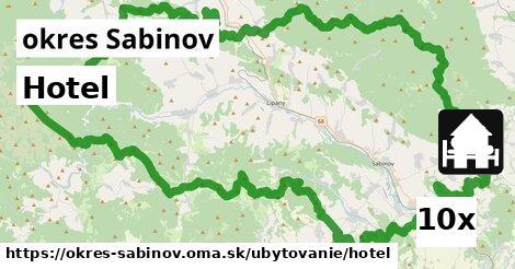 ilustračný obrázok k Hotel, okres Sabinov