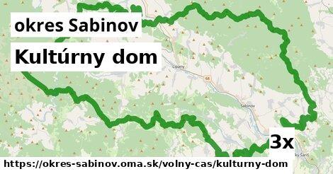 kultúrny dom v okres Sabinov