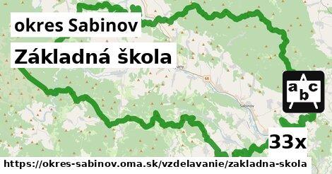 ilustračný obrázok k Základná škola, okres Sabinov