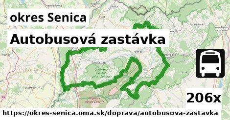 autobusová zastávka v okres Senica