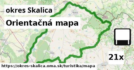 orientačná mapa v okres Skalica