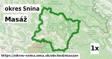 Masáž, okres Snina