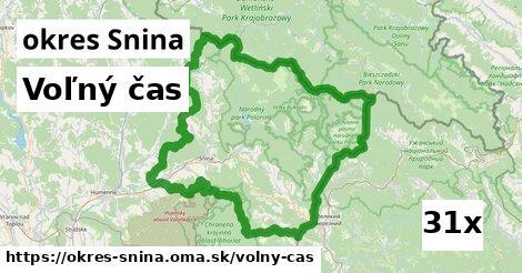 voľný čas v okres Snina