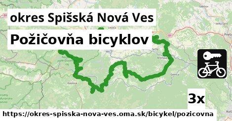 Požičovňa bicyklov, okres Spišská Nová Ves