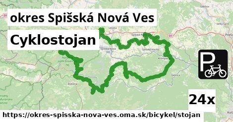 Cyklostojan, okres Spišská Nová Ves