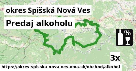 Predaj alkoholu, okres Spišská Nová Ves