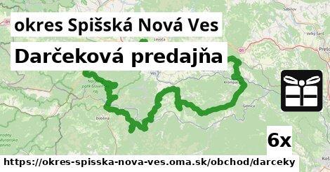 Darčeková predajňa, okres Spišská Nová Ves