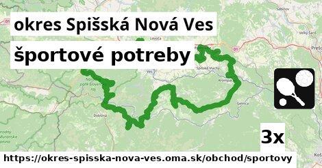 športové potreby, okres Spišská Nová Ves