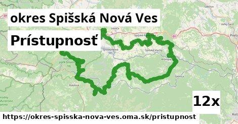 prístupnosť v okres Spišská Nová Ves