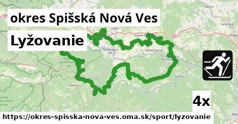 Lyžovanie, okres Spišská Nová Ves