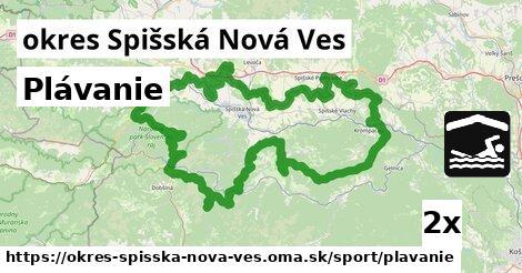 Plávanie, okres Spišská Nová Ves