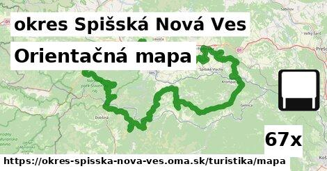 orientačná mapa v okres Spišská Nová Ves