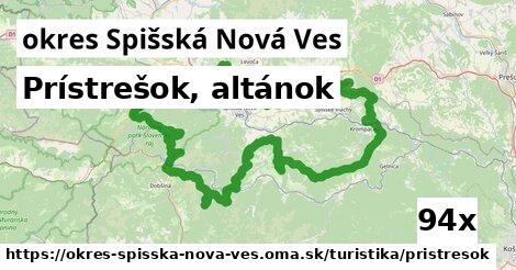 prístrešok, altánok v okres Spišská Nová Ves