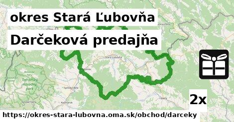 ilustračný obrázok k Darčeková predajňa, okres Stará Ľubovňa