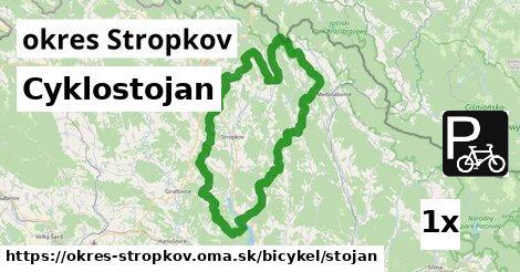 Cyklostojan, okres Stropkov