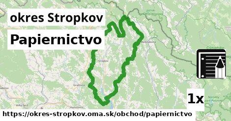 Papiernictvo, okres Stropkov
