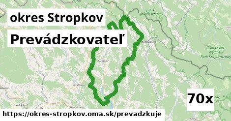 prevádzkovateľ v okres Stropkov
