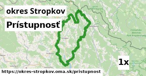 prístupnosť v okres Stropkov