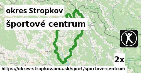 športové centrum, okres Stropkov