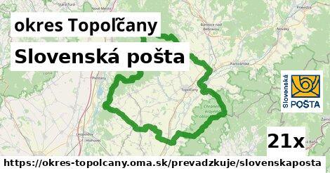ilustračný obrázok k Slovenská pošta, okres Topoľčany