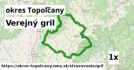 Verejný gril, okres Topoľčany