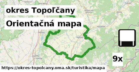 orientačná mapa v okres Topoľčany