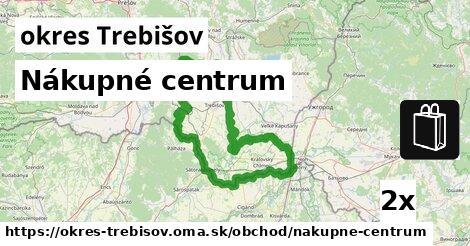 Nákupné centrum, okres Trebišov