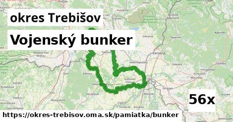 vojenský bunker v okres Trebišov