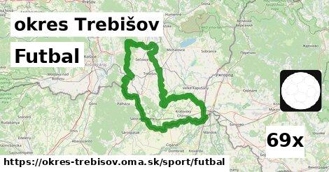 Futbal, okres Trebišov