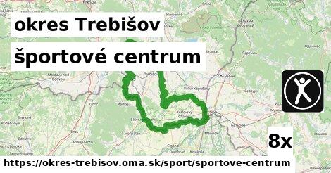 športové centrum, okres Trebišov