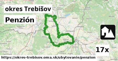 Penzión, okres Trebišov