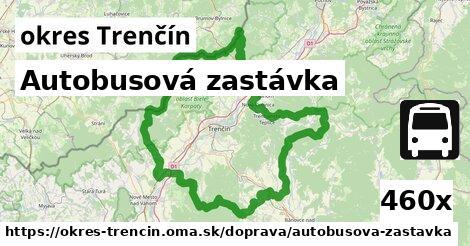 autobusová zastávka v okres Trenčín
