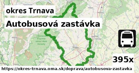 autobusová zastávka v okres Trnava