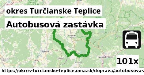 autobusová zastávka v okres Turčianske Teplice