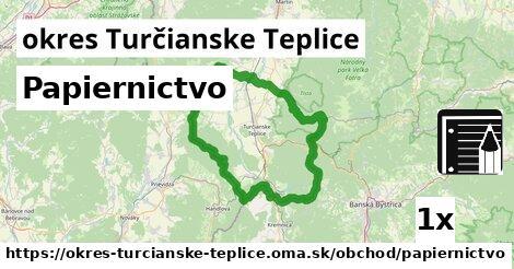 ilustračný obrázok k Papiernictvo, okres Turčianske Teplice