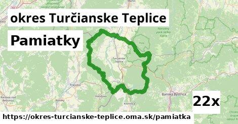 pamiatky v okres Turčianske Teplice