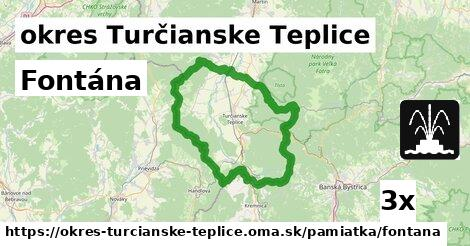 fontána v okres Turčianske Teplice