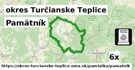 pamätník v okres Turčianske Teplice