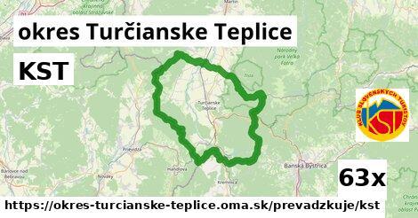 KST v okres Turčianske Teplice