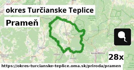 prameň v okres Turčianske Teplice