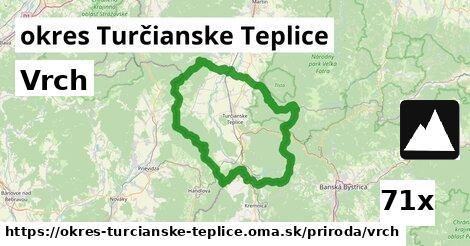 vrch v okres Turčianske Teplice