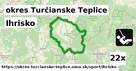 ihrisko v okres Turčianske Teplice