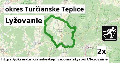 ilustračný obrázok k Lyžovanie, okres Turčianske Teplice