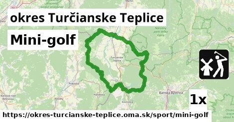 ilustračný obrázok k Mini-golf, okres Turčianske Teplice